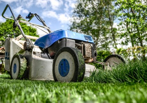 Close photo of lawn mower