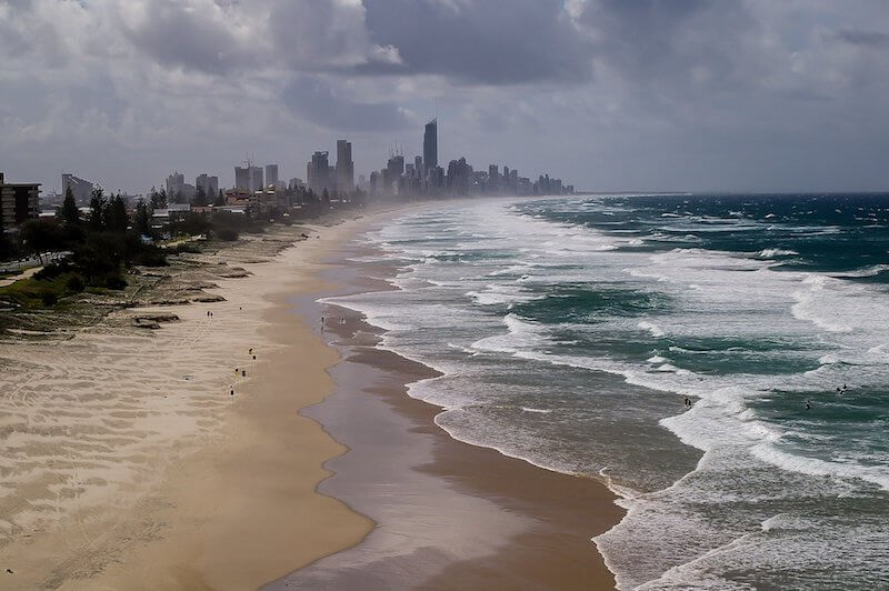 Gold Coast is famous for its beaches and a perfect family summer outdoor destination.
